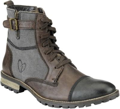 Delize T-007-BROWN-BLACK Boots