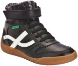 NewFeel Jarry Mid Black Sneakers (Black)