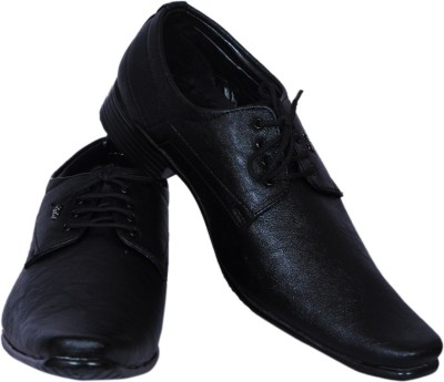 Smoky Black Party Lace Up Shoes