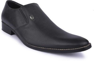 Buckleup MENS LEATHER SHOES BU1100-S_MC_BLACK-Size-8 Slip On(Black)