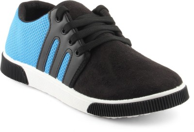 APF Black Blue Casuals Canvas Shoes