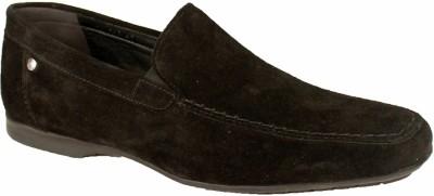 Salt N Pepper 10-506 Virtual Suede Black Casual Shoes
