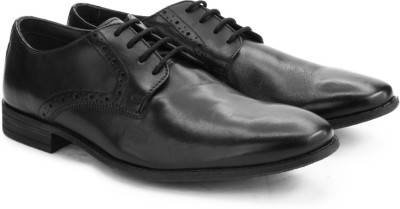 Clarks Chart Walk Black Leather lace up