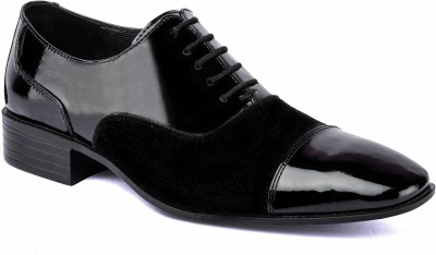 Nudo Black Patent Slip On Party Wear Shoes
