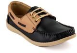 Rosso Italiano Boat Shoes (Black)