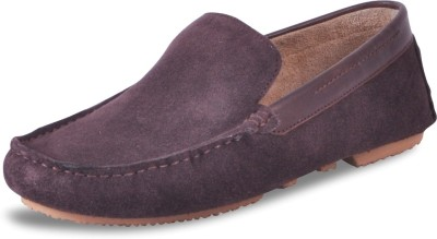 Harper Woods Choc Suede Classic Driving Shoes