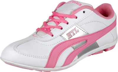 Hitcolus White/Pink Trendy Sport Walking Shoes