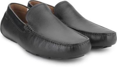 Clarks Davont Drive Blk Tumbled Lea Casual Shoes
