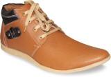 Sapatos Synthetic Leather stylish Tan Bo...