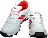 Zigaro Cricket Shoes (White, Red)
