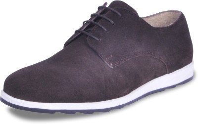Harper Woods Choc Suede lace up Casual Shoes