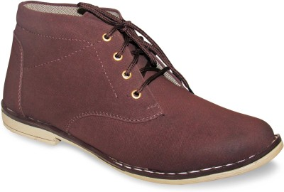 Sapatos Synthetic Denim stylish Brown Boots