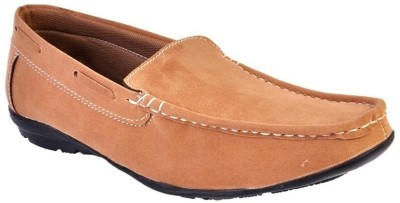 Raja Fashion Synthetic Tan Loafers