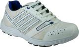 Azazo Running Shoes (White, Blue)