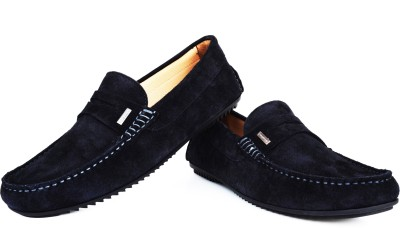 Language Navy Suede Casual Loafers