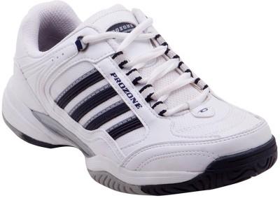 Prozone Men Durable Stylish Grey White Sport Running Shoes