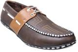Vajazzle Smart Look Boat Shoes (Brown)