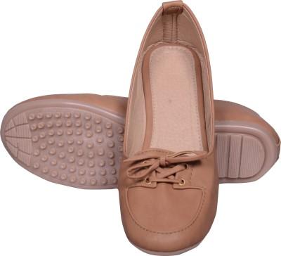 Walk Footwear AE-L-151 Tan Casual Shoes(Bellies)For Women