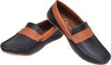 Alivio Dual Colour Loafers (Black)