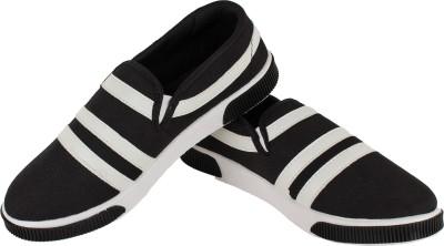 Earton Black-134 Canvas Shoes