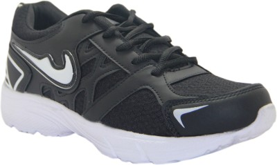 Stepin Soles Neon-4 Black/White Running Shoes