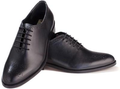 Walker Styleways Elite Black Leather Brogue Lace Up Shoes