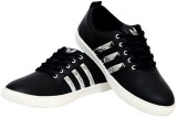 Shoes Bank Sneakers (Black, Silver)