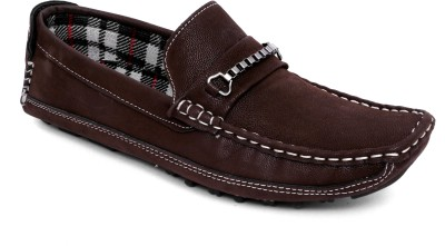 Woodlark Brown Synthetic Leather Loafers For Mens Loafers