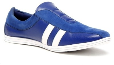 Zapatoz Blue & White Loafers