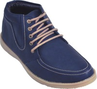 Adjoin Steps Lace Up Casual Shoes(Blue)