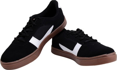 Sparx Stylish Black White Canvas Shoes