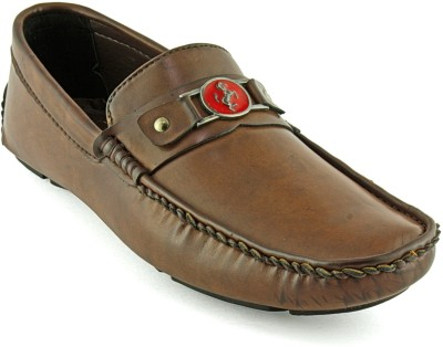Devee Fox Red Horse Brown Loafers