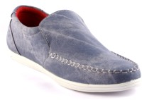 Zapatoz Blue Faded Loafers(Blue)