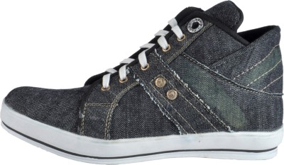 NY Eagle Grey Ankle Canvas Shoes