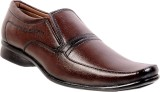 Marcbeau Slip On Shoes (Brown, Brown)