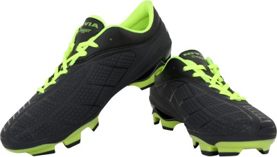 Nivia Dagger Football Shoes(Black, Green)