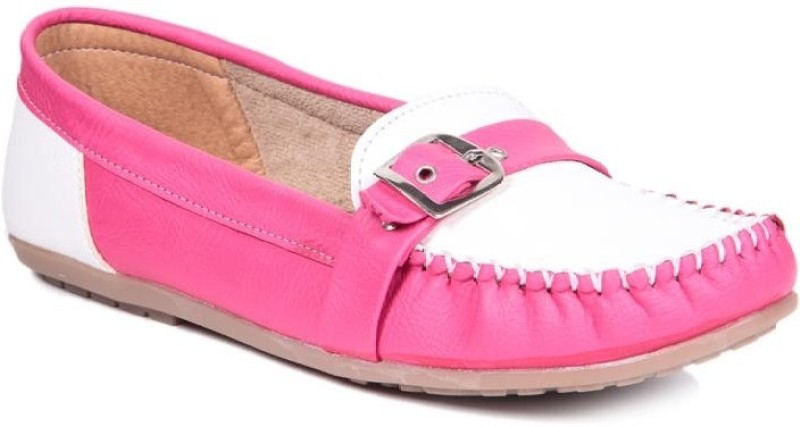 TEN Casual Women Loafers(Pink, White)