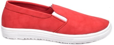 Advin England Red Slip On Style Shoes Sneakers