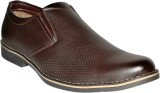Leather Chief Party Wear Shoes (Brown)