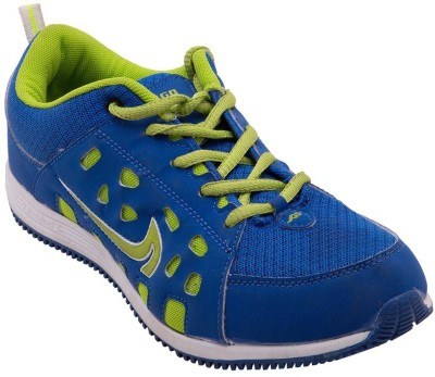 Just Go Men Imported Trendy Blue Green Sport Running Shoes