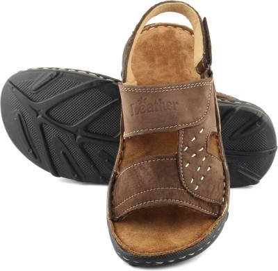 TASHI Brown Branded Sandals