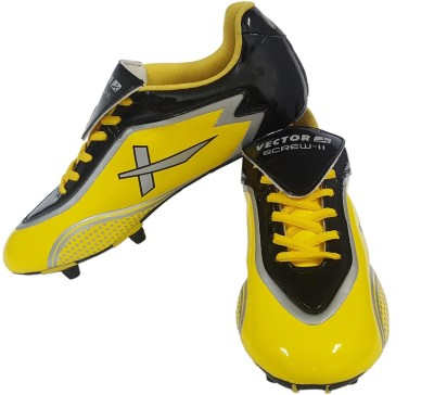 Vector X Screw-II Football Shoes(Yellow, Black)