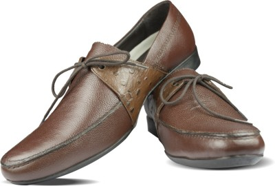 Blue Harpers One Eyelet Brown Lace Up Shoes