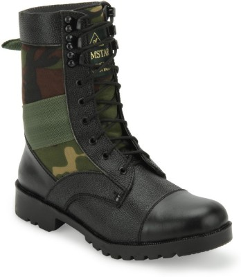 Benera Camouflage High Ankle Boots Boots