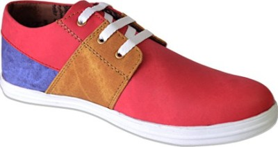 Smoky Red Denim Fashion Casual Shoes