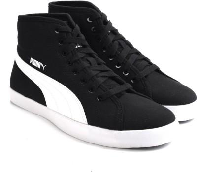 Puma Elsu v2 Mid CV DP Men Canvas Shoes(Black, White)