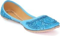 Paduki Ethnic Footwear Jutis(Blue)