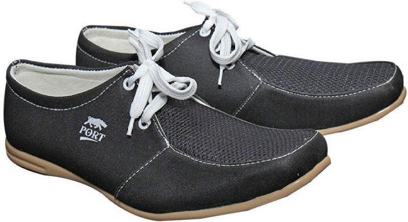 Port Blk Laced Jutti Casual shoes