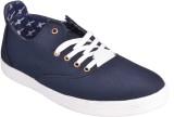 Optical Canvas Shoes (Blue)