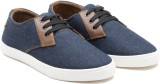 Randier Sneakers (Blue, Tan)